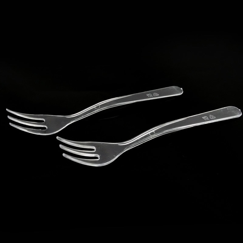 PP/PS Disposable Fork Plastic Fork Soup Fork