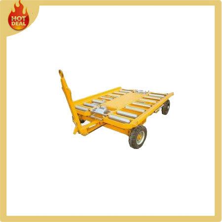 Galvanized Airport Bulk Cargo Luggage Trailer Cart