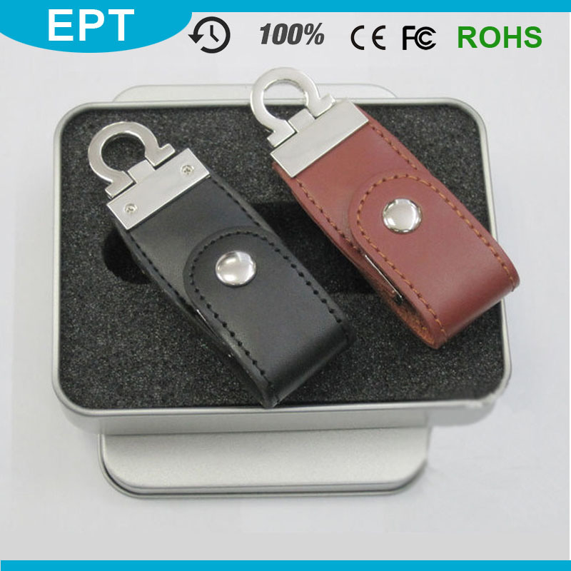 Cheap Leather USB Flash Memory Stick USB with Full Capacity for Free Sample