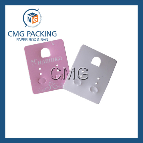 Plastic Pink Card for Earrings