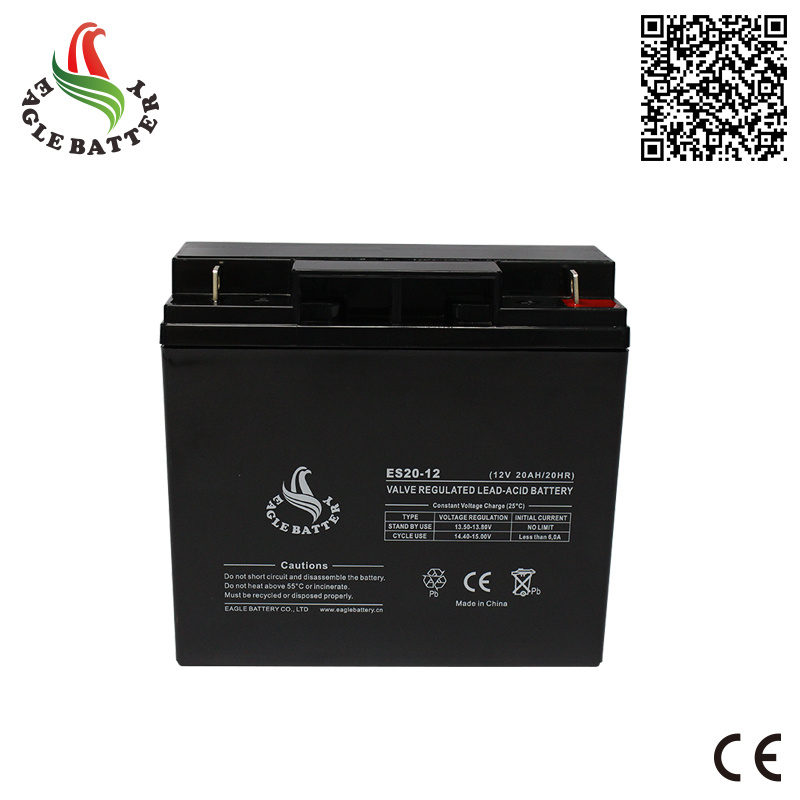12V 20ah VRLA Rechargeable Sealed Lead-Acid Battery for UPS