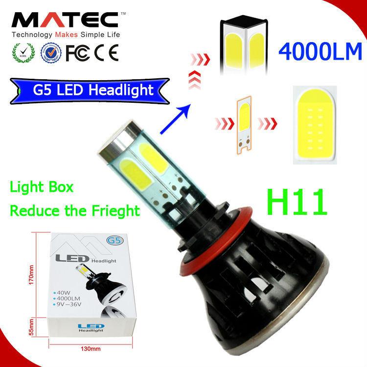 Factory 9-36V 4000lm H1 H4 H7 H11 LED Headlight