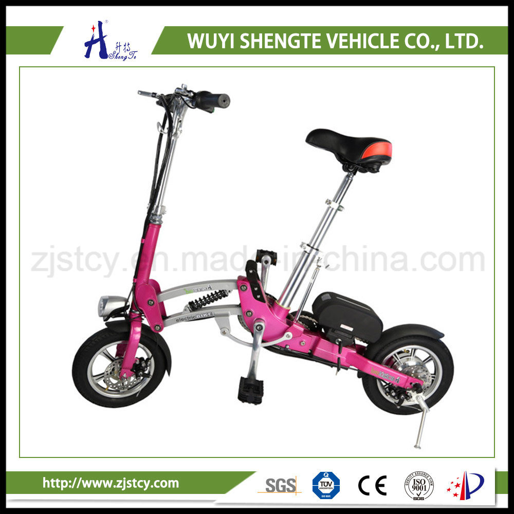 350W One Second Folding Design 12inch Mini Electric Scooter /Ebike