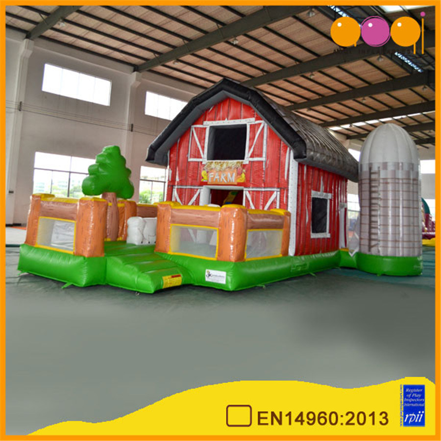 Colorful Farm House Inflatable Bouncer (AQ150)