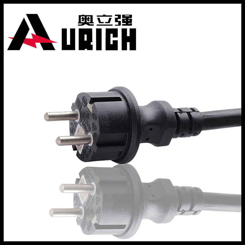 OEM VDE Approved European 2pins Power Cord Plug Cord