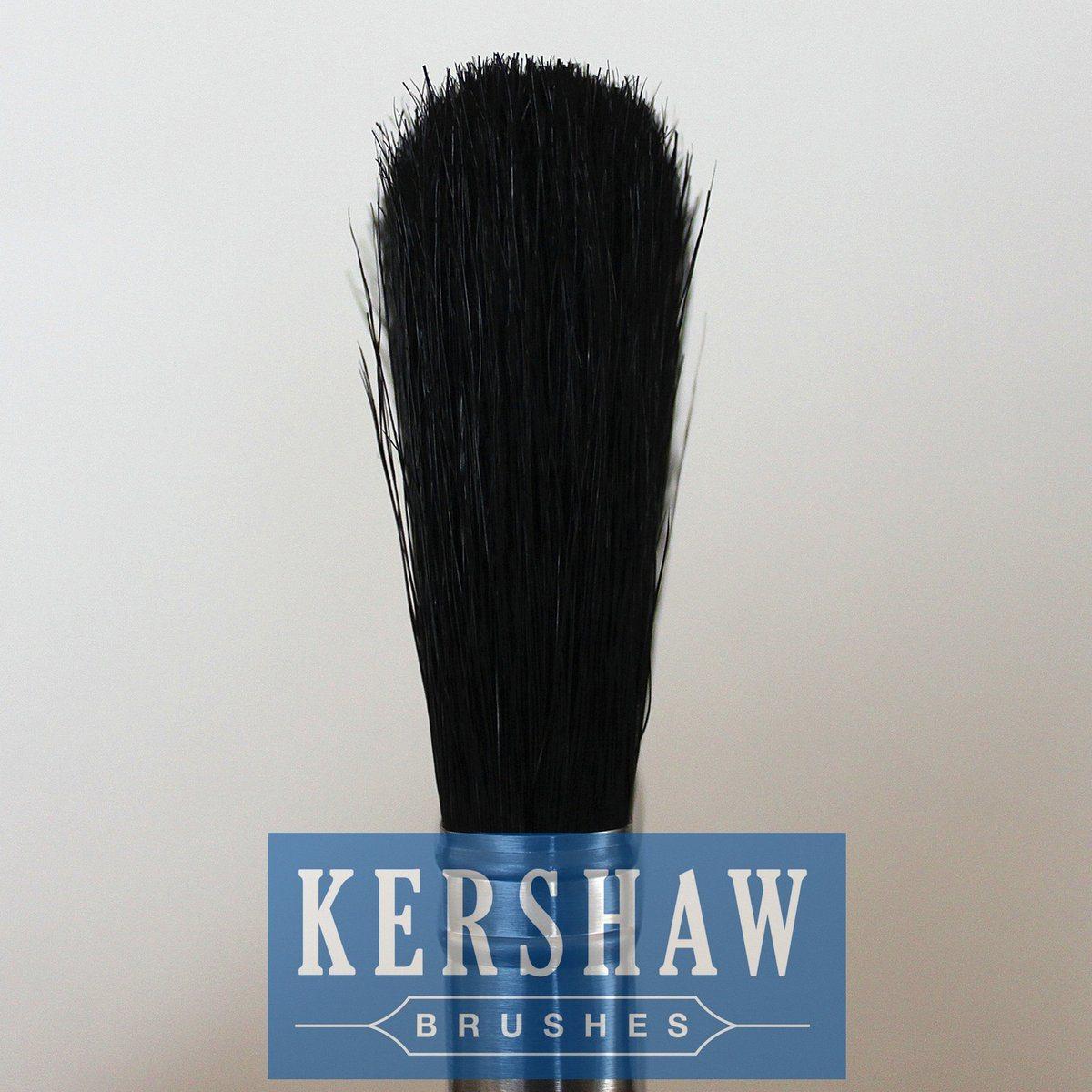Paint Brush (paintbrush, pure black bristle flat brush with hard wood handle, flat brush)