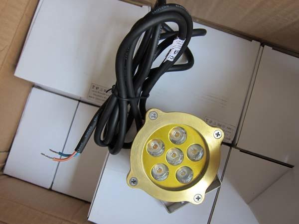 High Brightness 6W Brass Underwater LED Pool Lamp (Slw-07b) /100% Waterproof Waterlight /Underwater Light /IP 68 Light /Outdoor Light/Swimming Pool Light