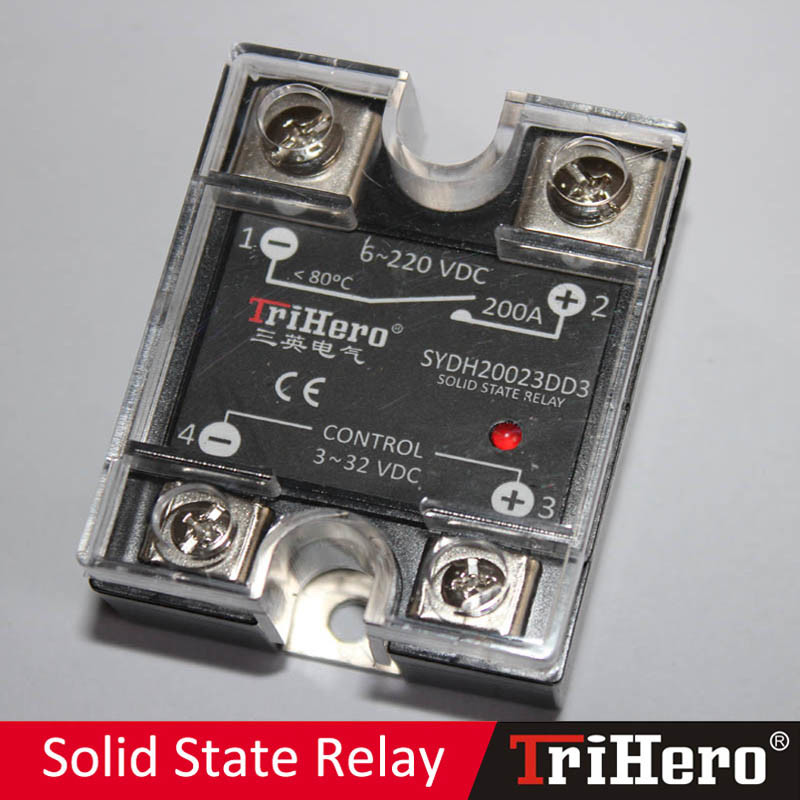 200A DC/DC Single Phase Solid State Relay SSR