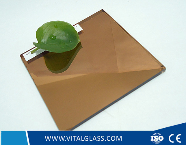 Pink/Grey/Bronze Mirror for Decrative Glass Mirror with CE & ISO9001 (P-M)