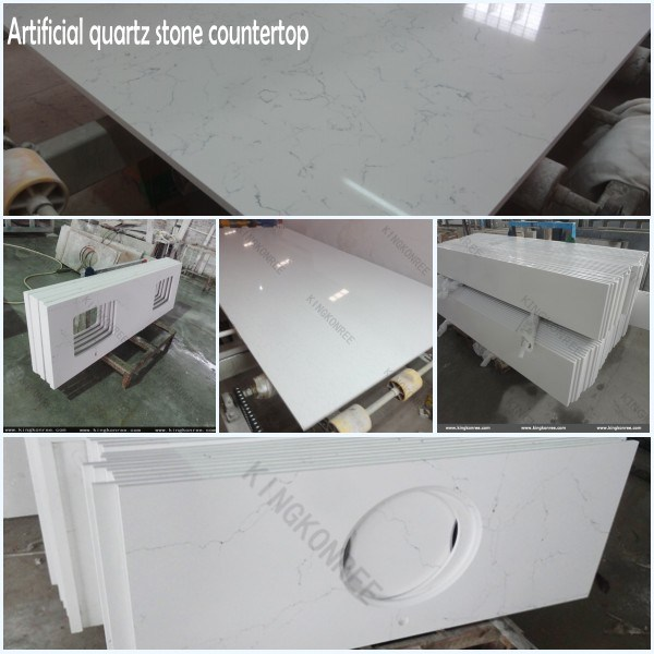 Quartz Stone Solid Surface Bathroom Countertop