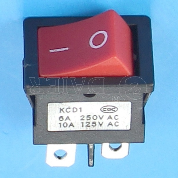 Miniature Black Rocker Switch 4 Pin on-off
