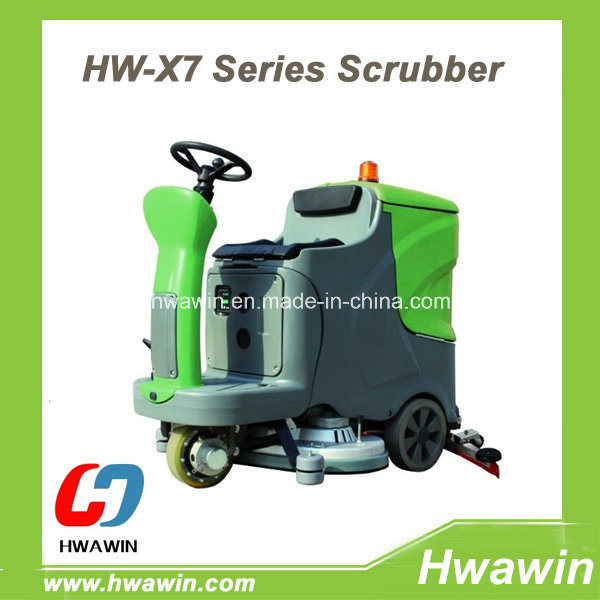 Electric Ride on Warehouse Floor Scrubber Machine