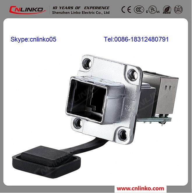 Waterproof RJ45 Connector with 90 Degree
