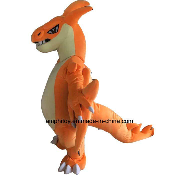 Orange Mascot Costume Charizard Character Popular Costume