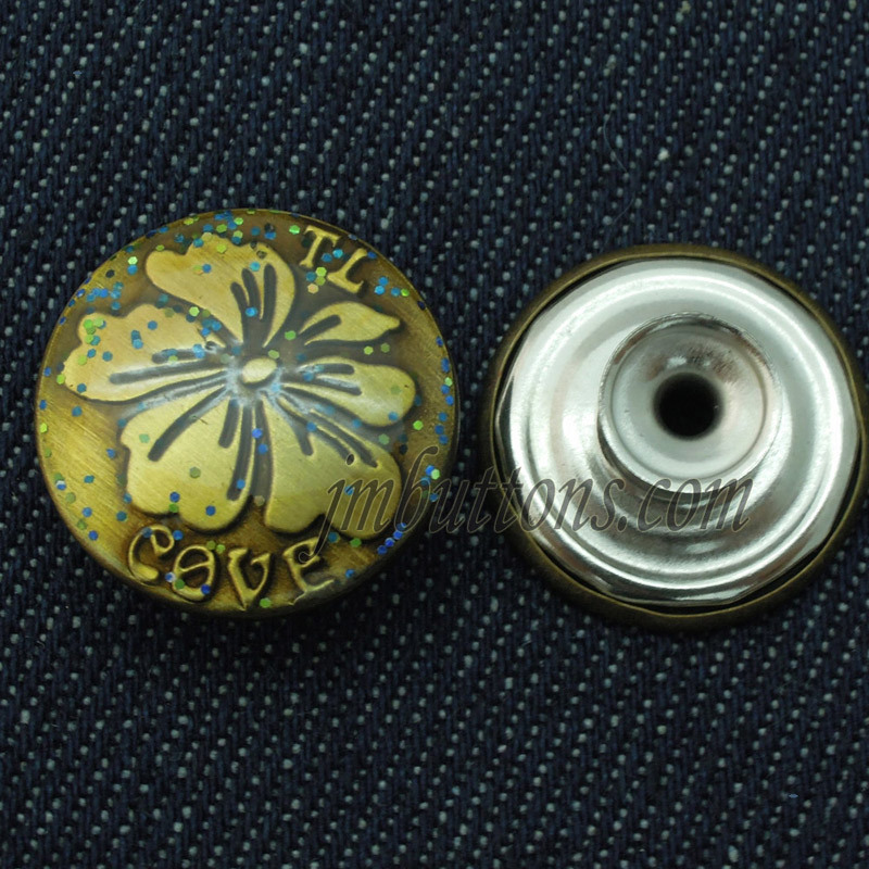 Brass Metal Buttons for Jeans Jacket