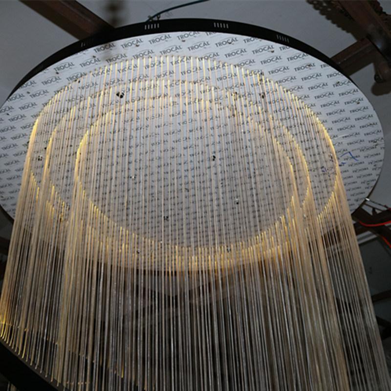 Hotel Lobby Decorative Hanging Fiber Large Round Pendant Lamp
