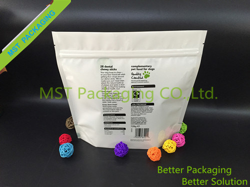 Plastic Stand up Pouches for Pet Food Packaging