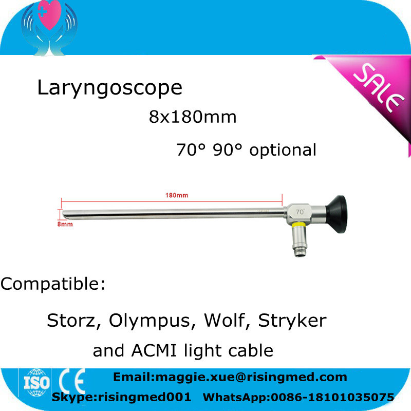 Surgical Equipment Rigid Laryngoscope Laryngendoscope Compatible Storz Stryker Wolf Olympus Ent Endoscope for Throat by Ce ISO -Candice