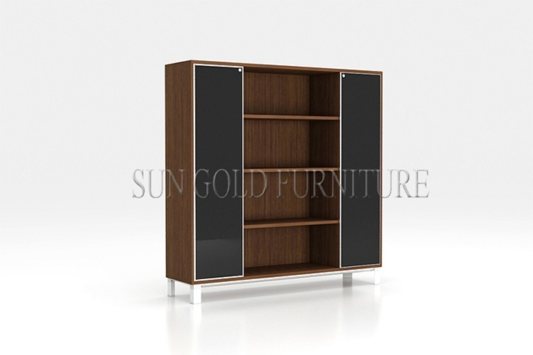 Modern Elegant Glass Door Frosted Glass Storage Cabinets (SZ-FC080)