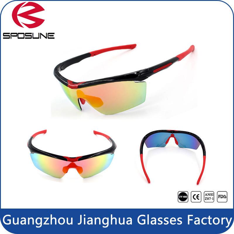 Mens Women Hot Popular Cycling Sunglasses Wholesale Anti-Slip Waterproof Lenses Sport Eyewear