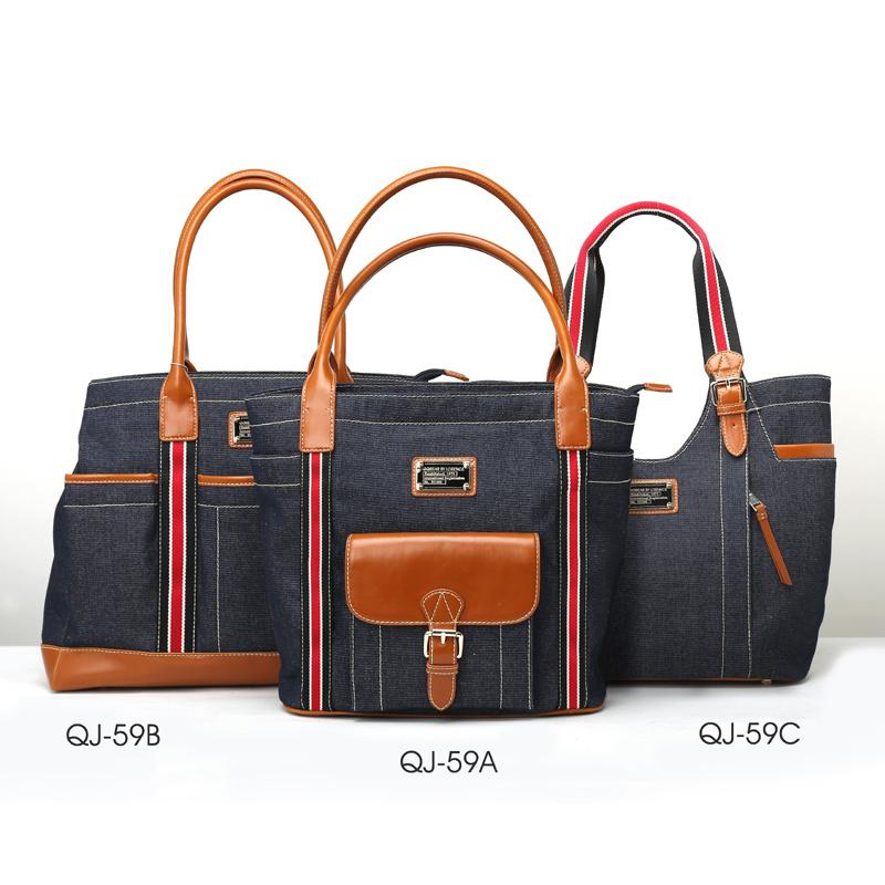Fashionable Jeans Series Lady Tote Handbag (QJ-59)