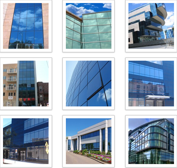 Hidden and Exposed Frame Glass Curtain Wall (Professional Design)