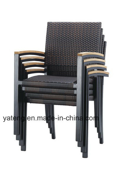 Modern Design Outdoor Garden Furniture Teak Table with Stackable Chairs Dining Set (YT505) by 6-10person