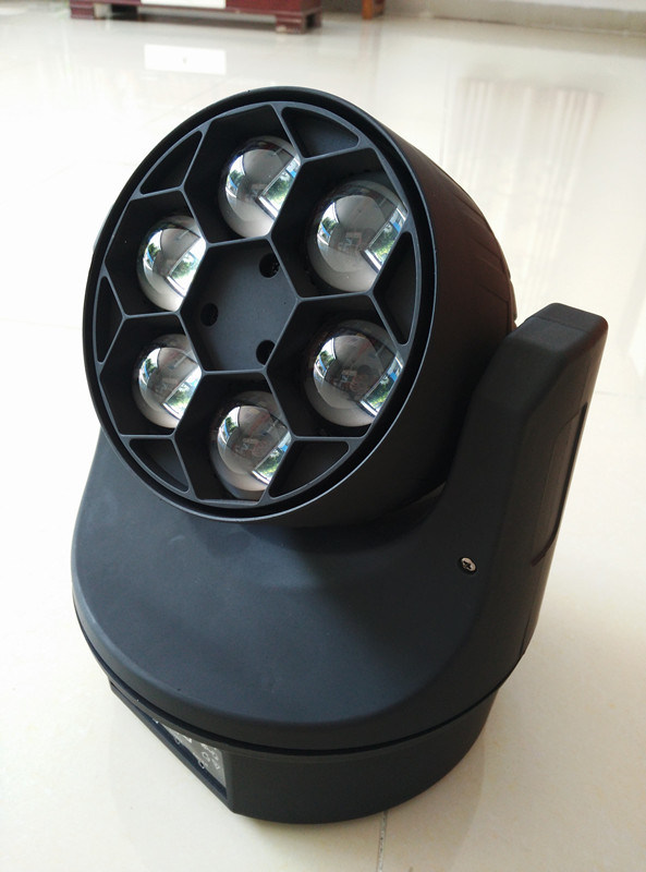 LED 6PCS 15W RGBW 4in1 Bee Eye Beam Wash Mini Moving Head Light LED Moving Head
