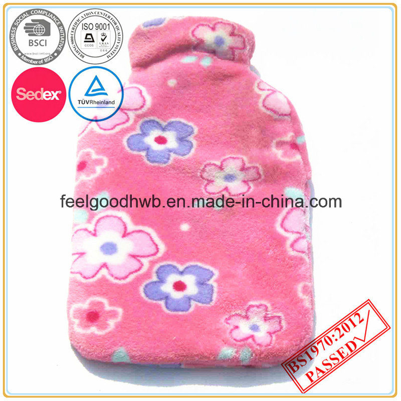 Coral Fleece Hot Water Bottle Cover