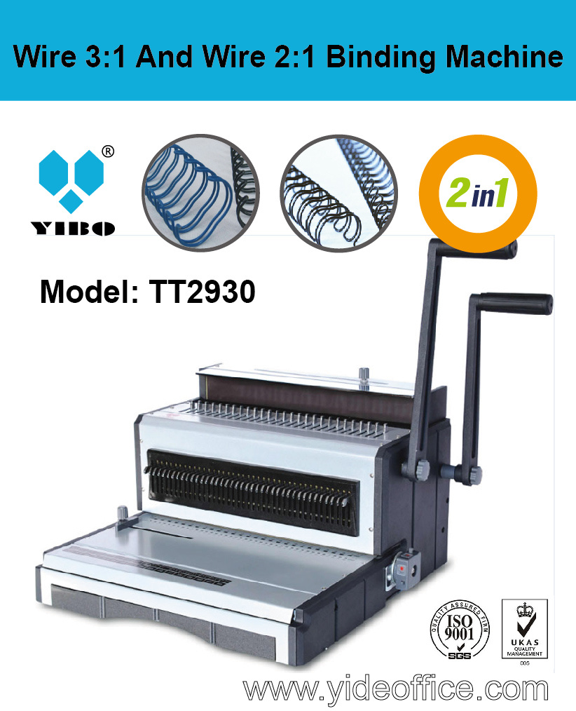 F4 Szie Wire 3: 1 and Wire 2: 1 2-in-1 Binding Machine (TT2930)