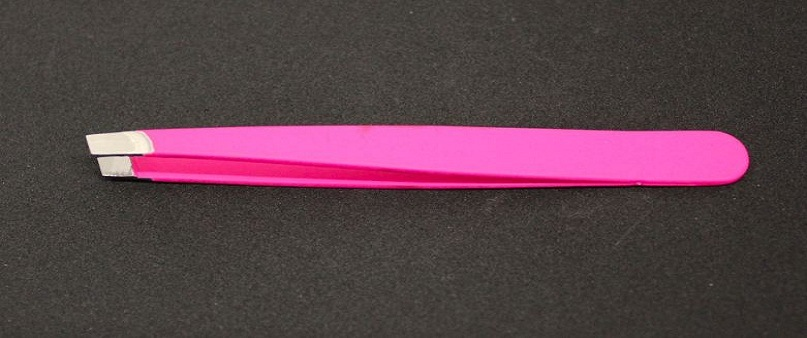 High Quality Rubber Spray Painting Beauty Tweezers Slanted Tips Js15307