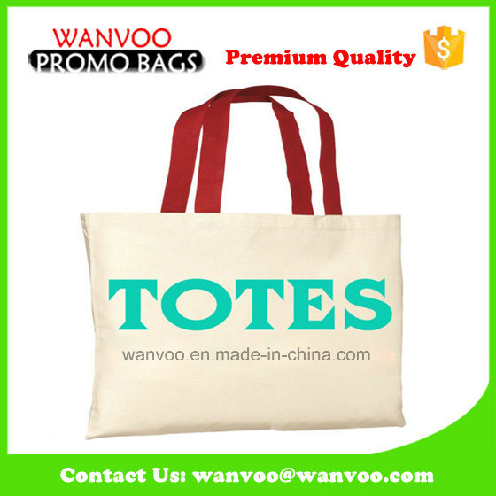 Shoulder Promotional Shopping Canvas Cotton Tote Bag for Beach