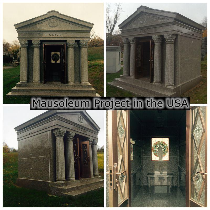 Cheap Granite 6 Crypts Private Mausoleum for Sale