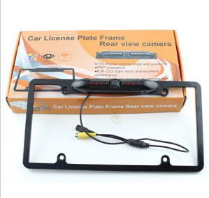 USA License Plate Car Rear View Camera with IR Night Vision IP67 Waterproof