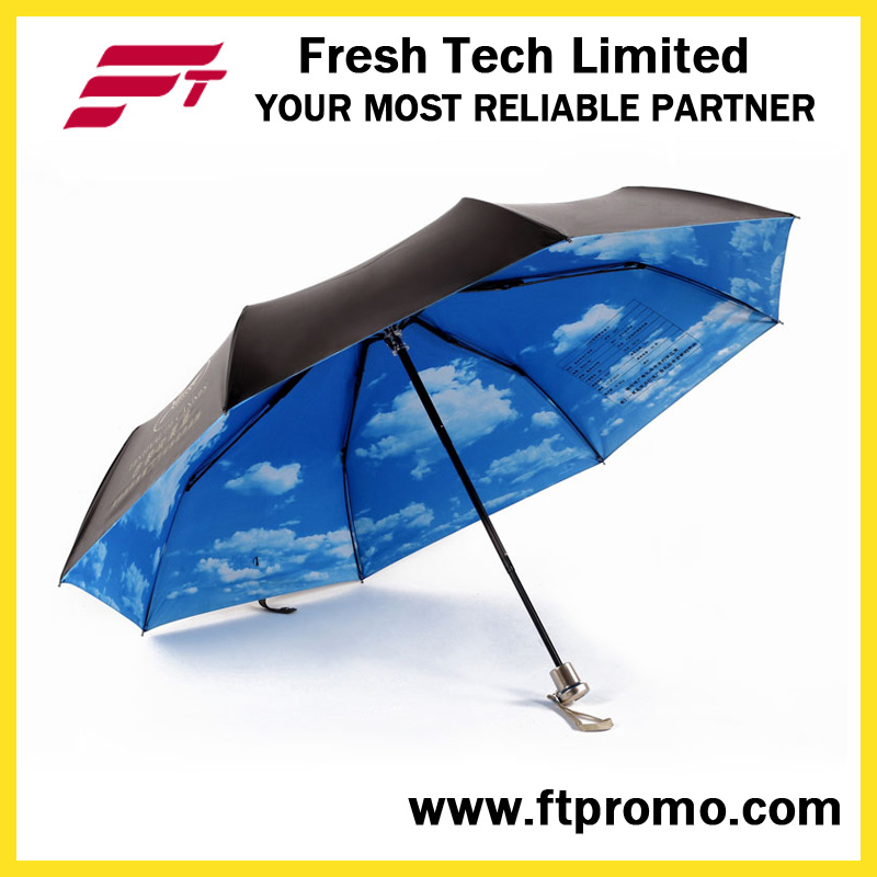 OEM Manual Open Folding Umbrella with Logo