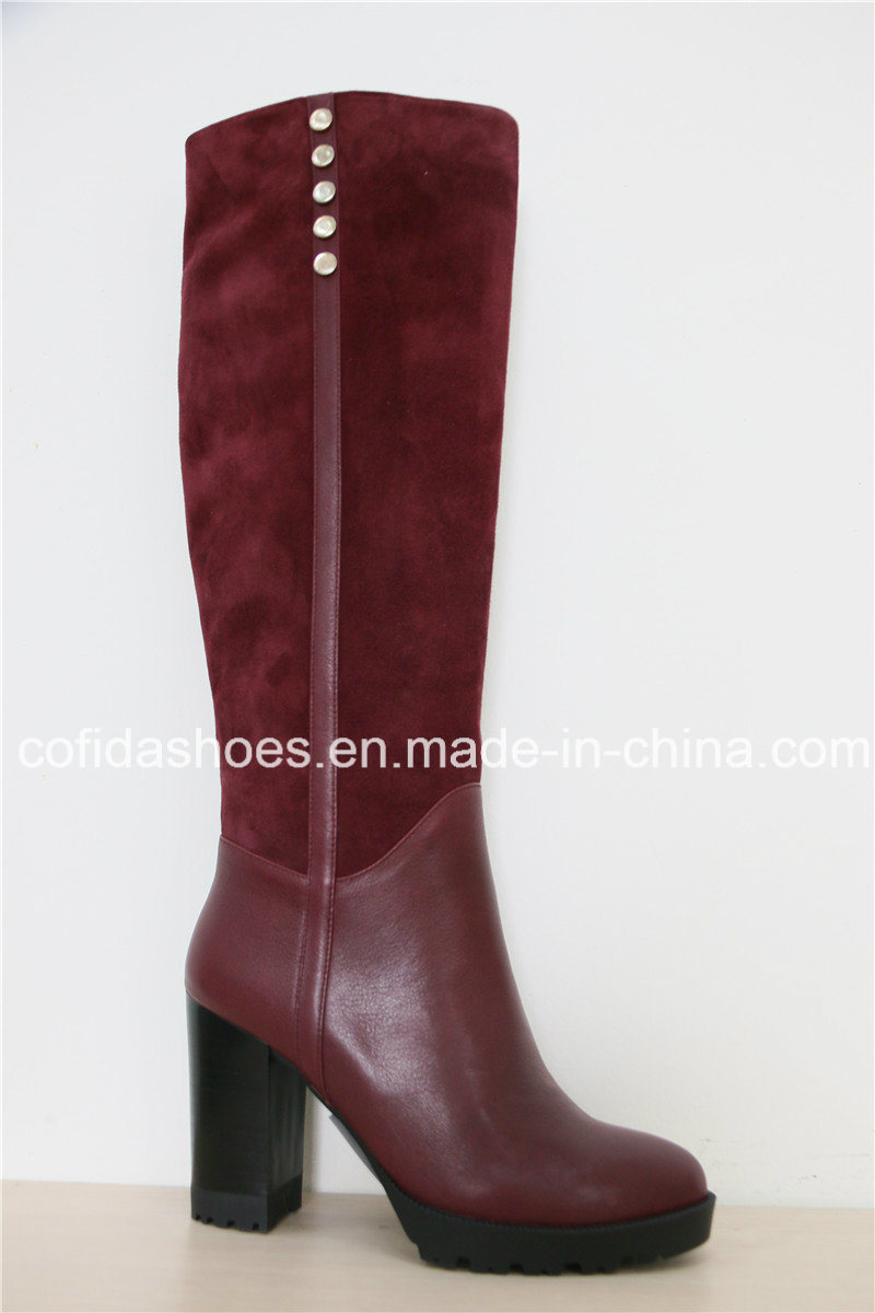 Fashion Winter High Heels Ladies Long Boots