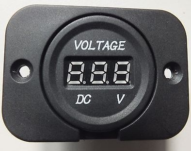 12V /24V Red LED Car Digital Voltage Volt Meter Display for Car Tuck Motorcycle