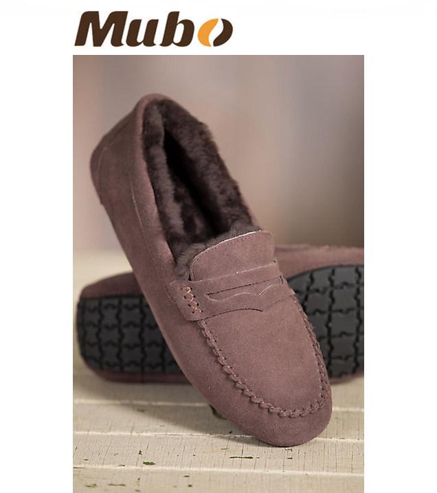 Australian Merino Sheepskin Moccasin Women Casual Shoes