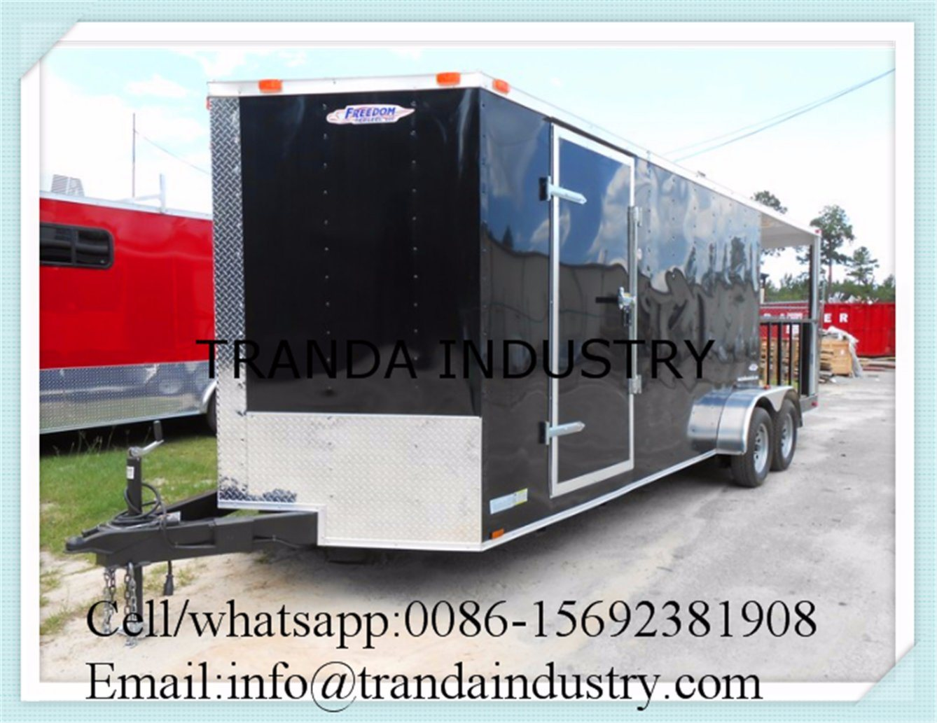 Food Cooking Cart/Mobile Dining Car/Fast Food Kitchen Trailer Car