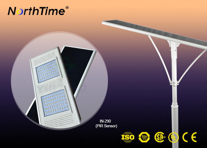 Solar-Powered Street LED Lamps Outdoor Lighting Fixture Phone APP PIR Sensor