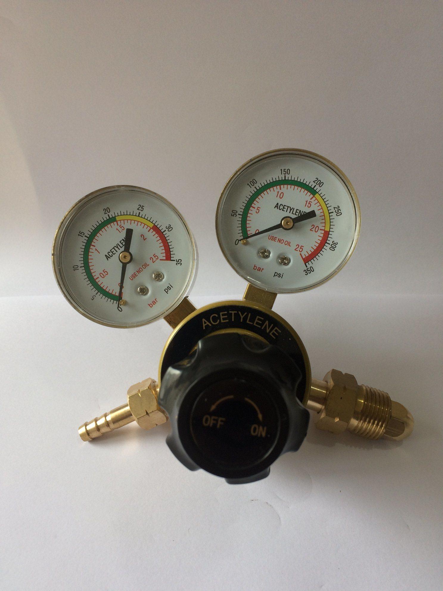 Explosion Proof Watchcase Brass Acetylene Gas Regulator