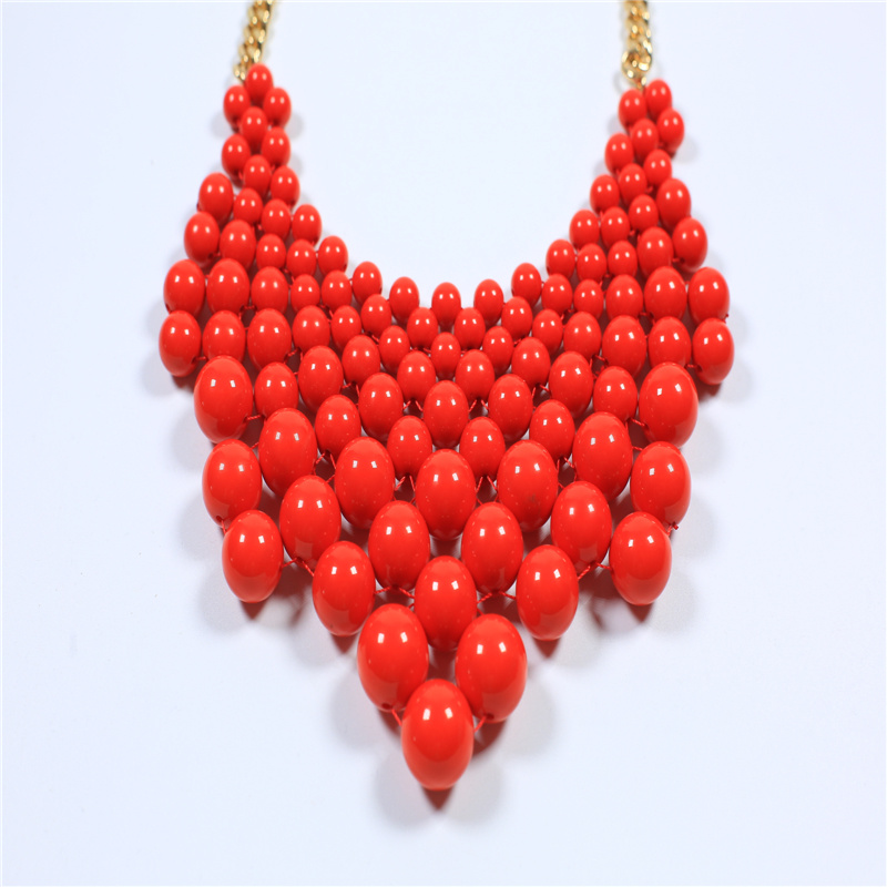 New Item Glass Acrylic Beads Fashion Jewellery Set Earring Bracelet Necklace