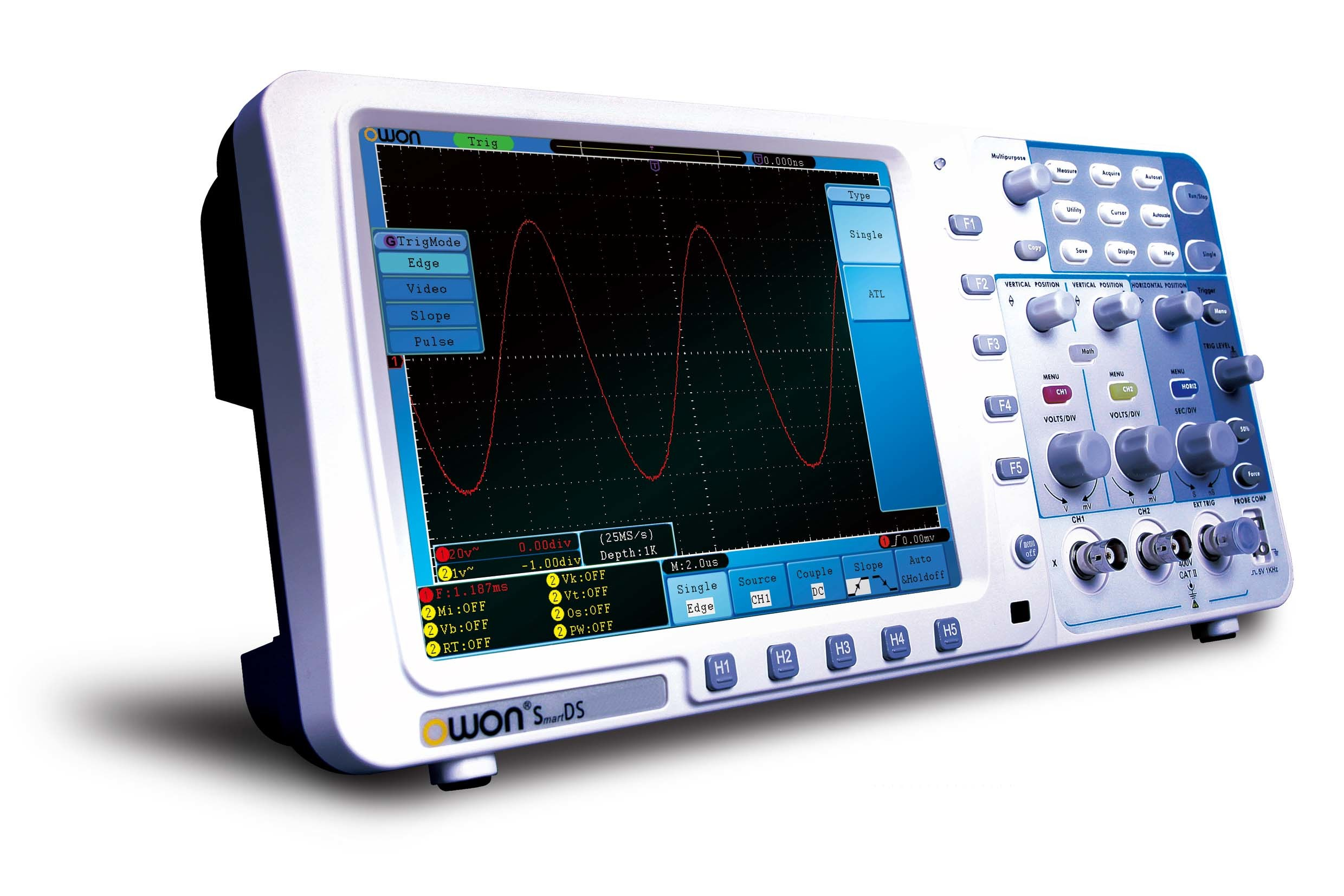 OWON 100MHz 1GS/s Deep Memory Digital Oscilloscope (SDS7102)
