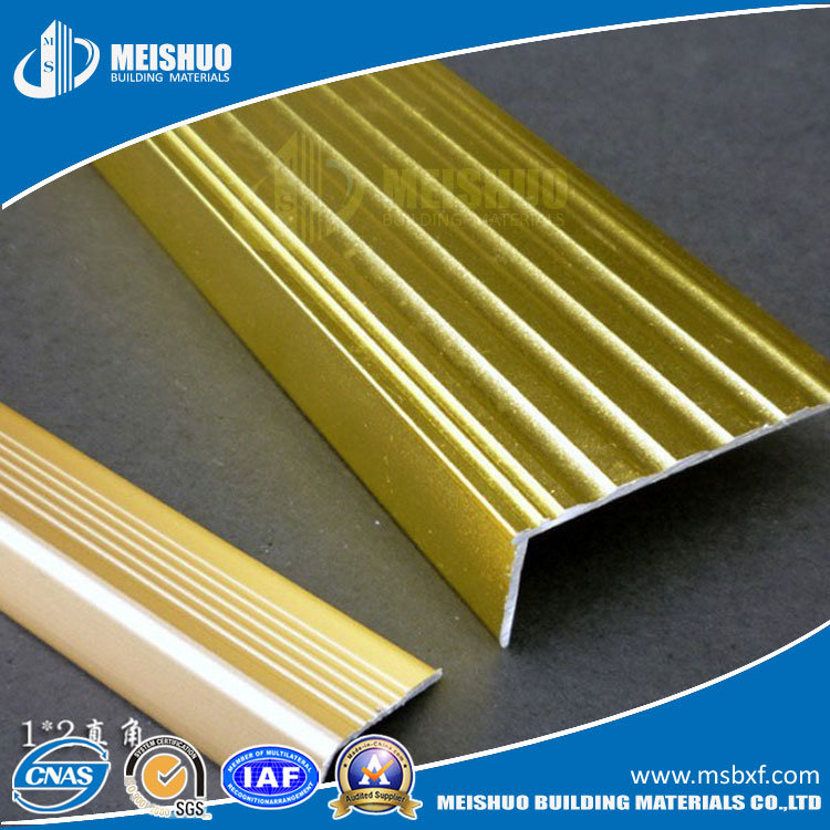 Best Flooring Materials Beveled Nonslip Brass Stair Tread Nosing