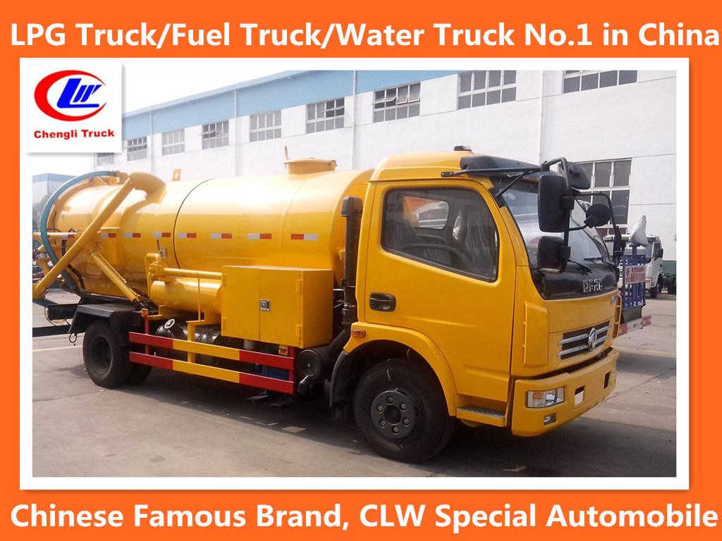 4*2 Dongfeng Sewage Suction Truck 6 Wheel Sewage Suction Truck 6000liters Sewage Suction Truck