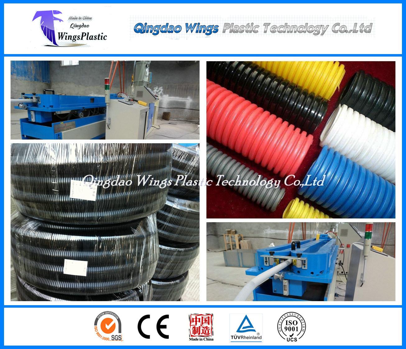 Automatic Corrugated Pipe Production Line / Plastic Corrugated Hose Machine