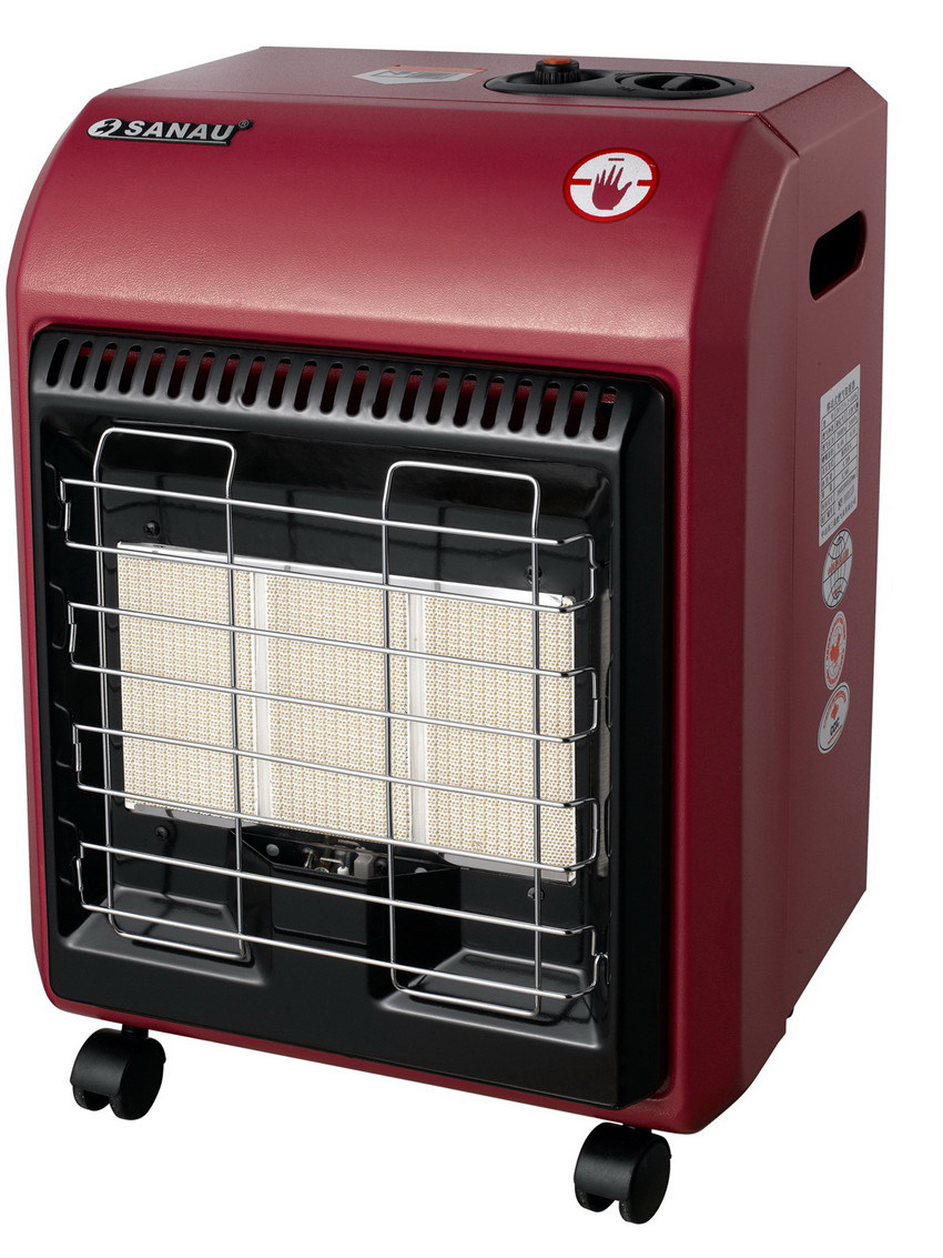 Mobile Gas Heater with 3plate Hight Efficiency Ceramic Burner Sn09-C
