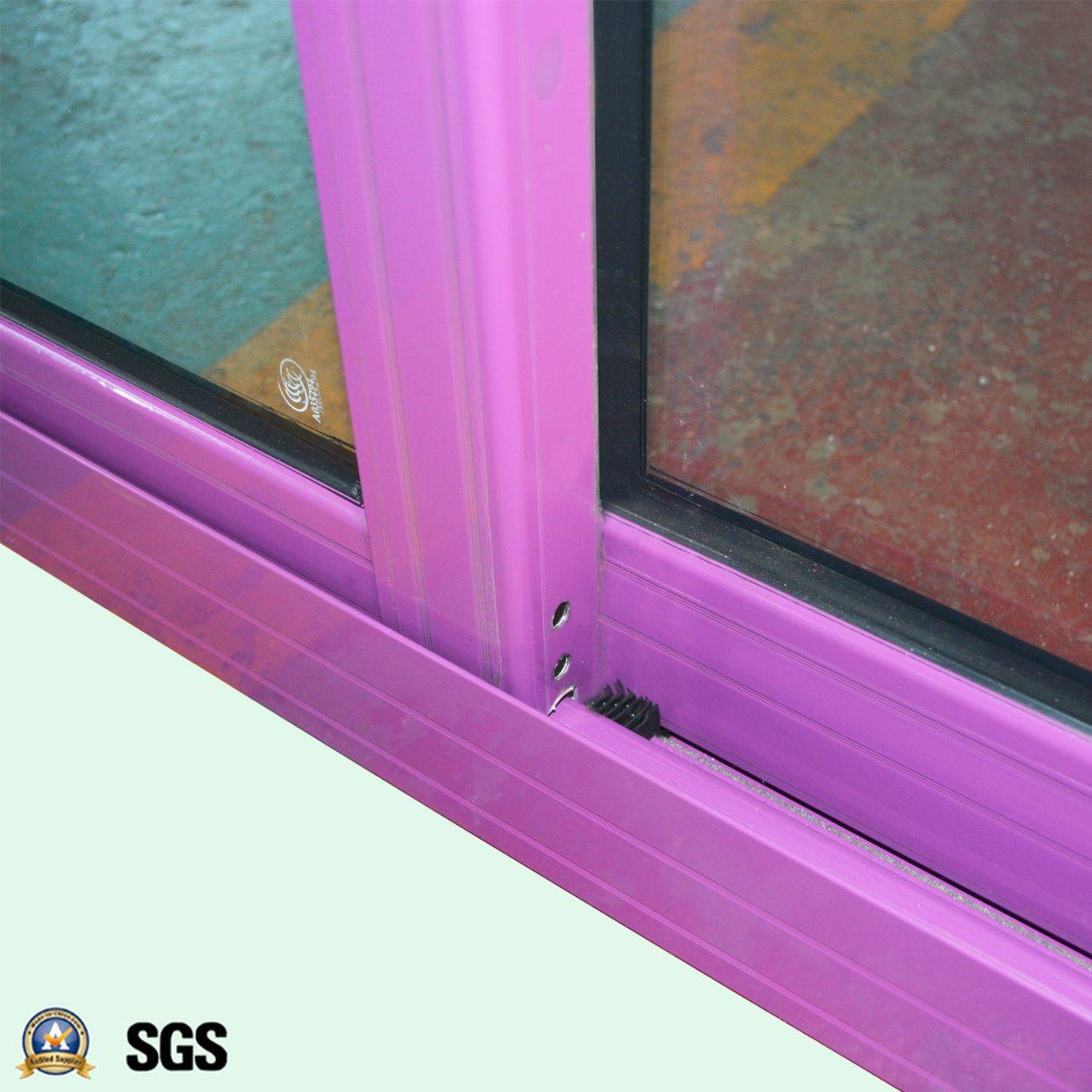 Powder Coated Handle Lock with Key Aluminum Sliding Window K01001
