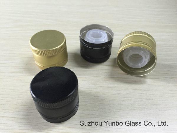 Quality Aluminum Olive Oil Bottle Cap with Plastic Reducer Insert Pourer