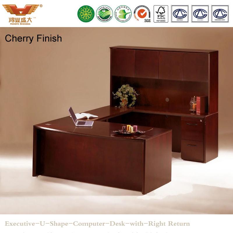 Modern Office Furniture Wooden Executive U Shape Computer Desk (HY-U01)